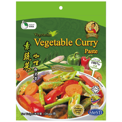 NYOR NYAR Vegetarian Vegetable Curry Paste 120g