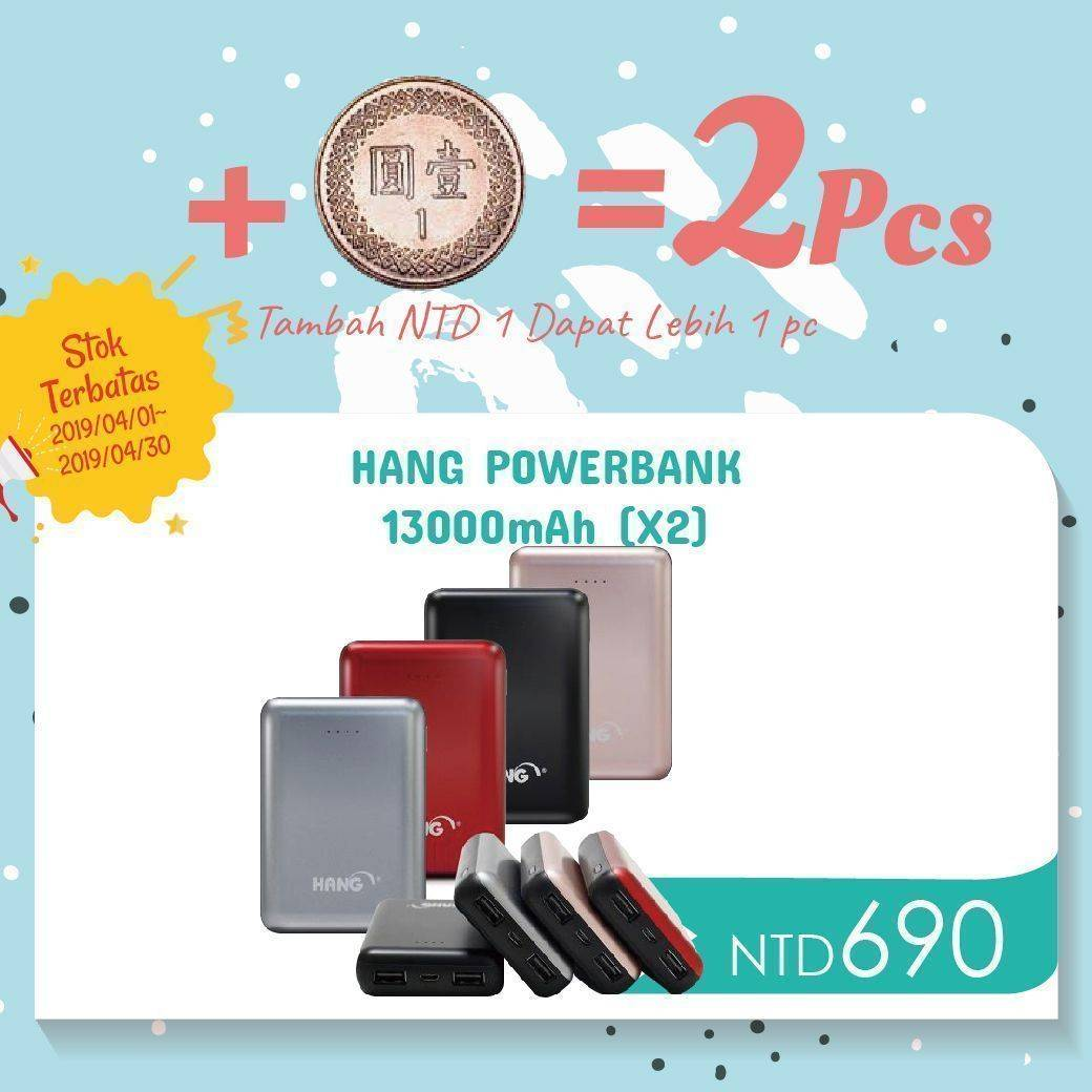 HANG Powerbank 13000mAh (X2)