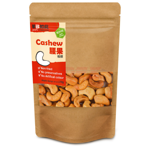 JANES TREASURES Cashew Maple Sugar  170g